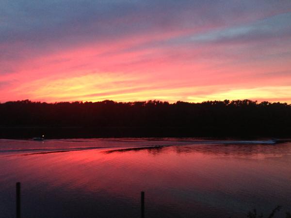 Sunset Yankee Boat Yard
